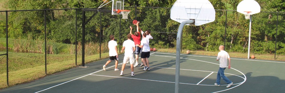 Residential Basketball courts. Design, Construction and Installation
