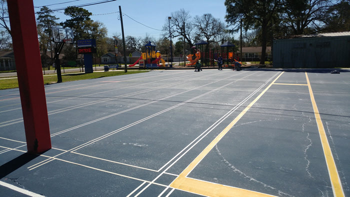 Backyard Basketball Courts In Houston Running Track